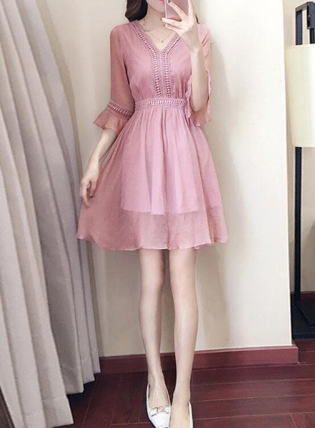 lovely pink summer dress