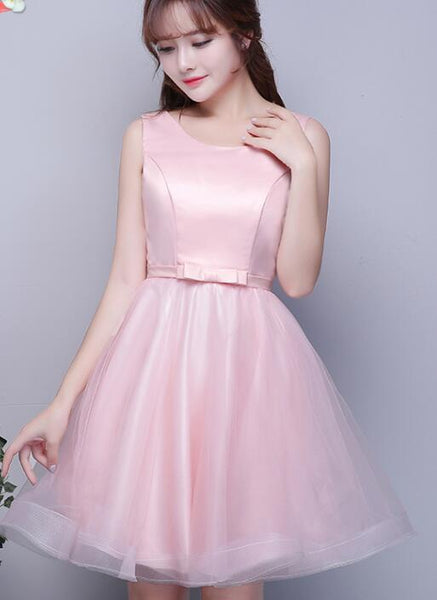 cute pink formal dress
