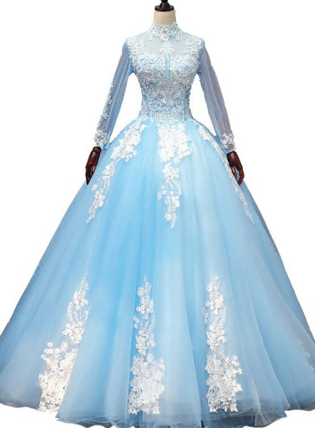 light blue sweet 16 dress