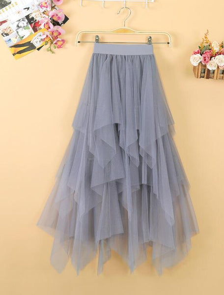 Lovely Long Tulle Layers Summer Skirt, Women Skirts