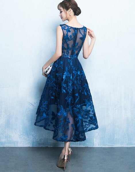 Beautiful Blue High Low Party Dress, New Fashionable Formal Dress 2020