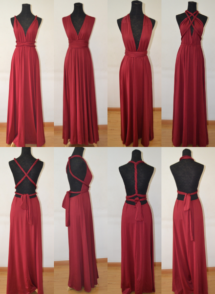 wine red multi-way bridesmaid dress