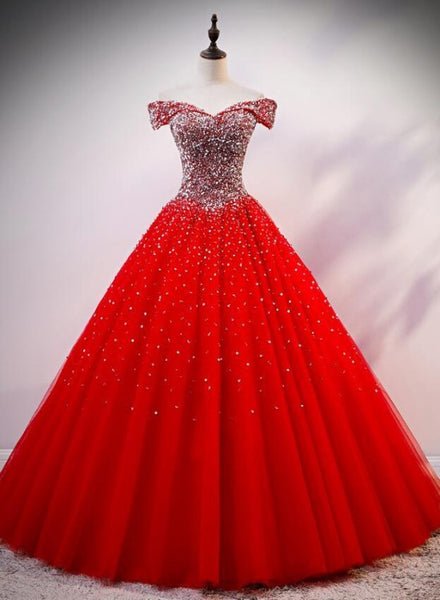 red sweet 16 gown