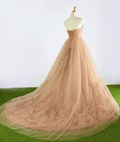 Tulle Wedding Dresses, Sweetheart Gorgeous Floral Style Party Dresses, Formal Gowns