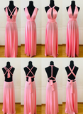 Pink multi-way bridesmaid dress
