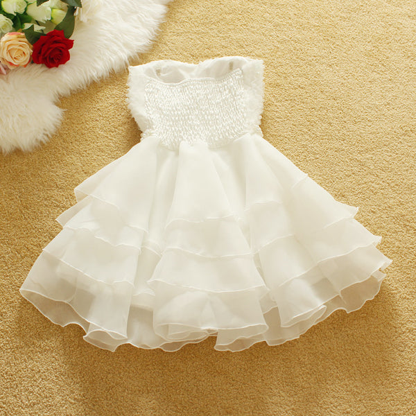 Cute Organza Mini Teen Party Dress, Lovely Formal Dress, White Dresses