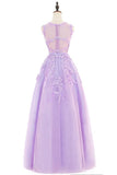 Beautiful Purple Ball Gown Tulle Long Party Dress, A-line Prom Dress 2020