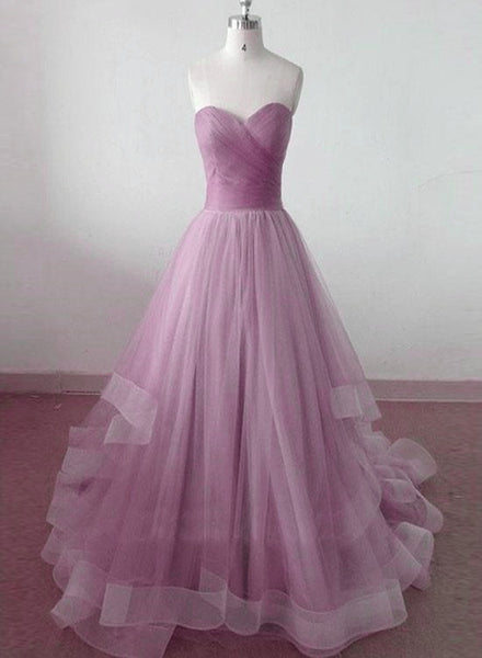 Lovely Tulle Layers Sweetheart Formal Gown, Gorgeous Handmade Party Dress 2019