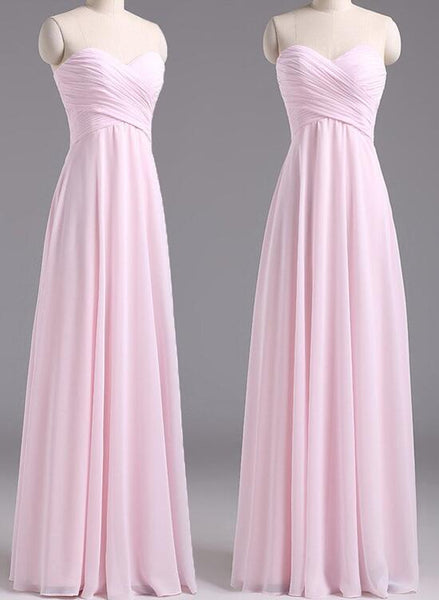 Pink Bridesmaid Dresses, Lovely Bridesmaid Dresses, Long Formal Gowns