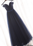 Beautiful Navy Blue Prom Dress