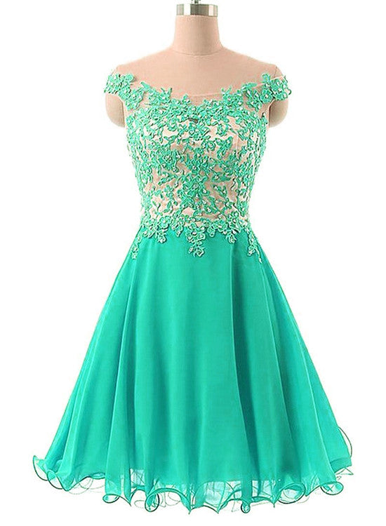 ed1495f9e2e5 Green Off Shoulder Short Prom Dresses