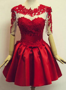 Short Formal Dresses with Red