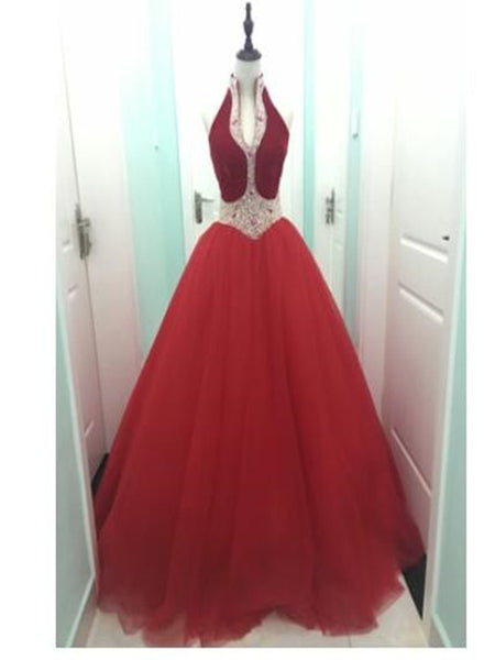 Red Charming Ball Gown Princess Gown, Sweet 16 Formal Gown, Prom Dress