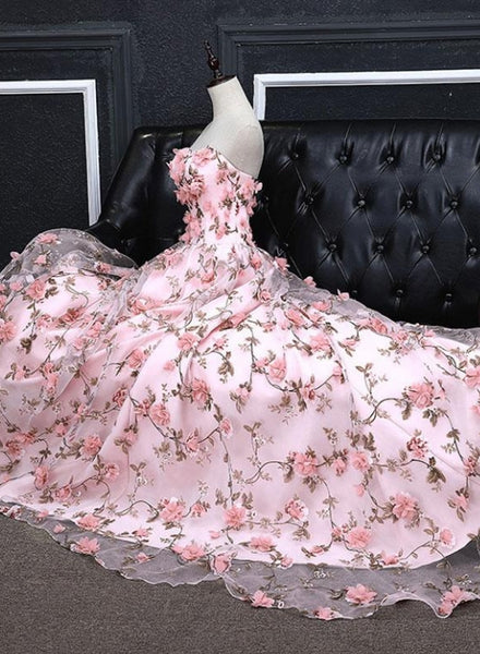 Pink Floral Party Dress
