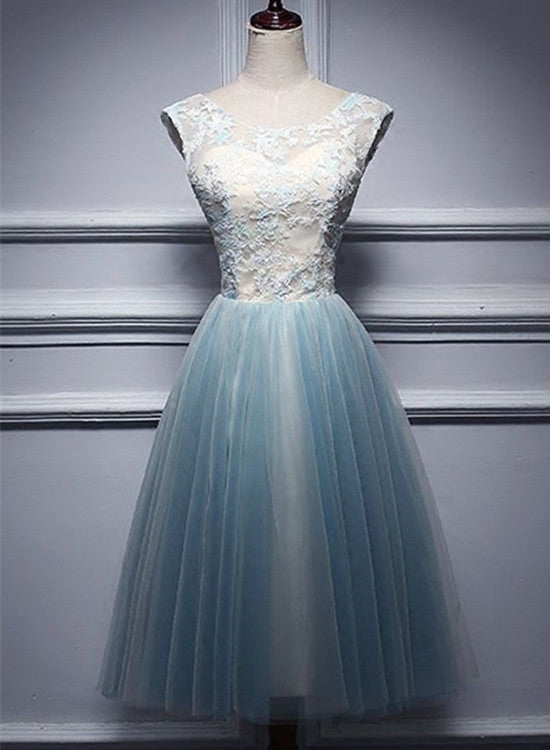Charming Short Vintage Tulle Homecoming Dresses,