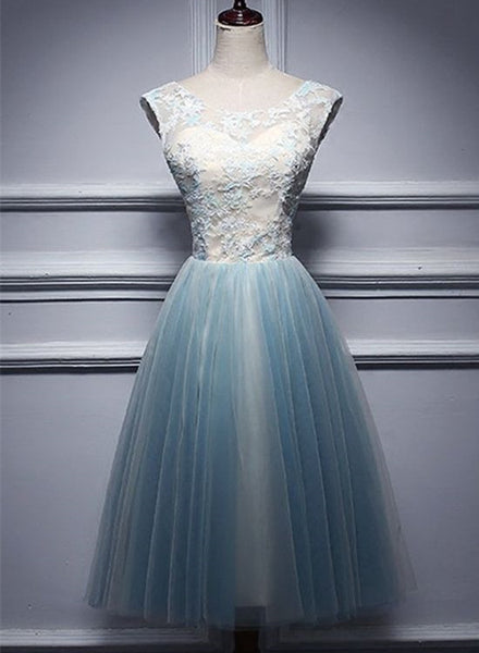 Charming Short Vintage Tulle Homecoming Dresses, Short Junior Prom Dresses 2018, Wedding Party Dresses