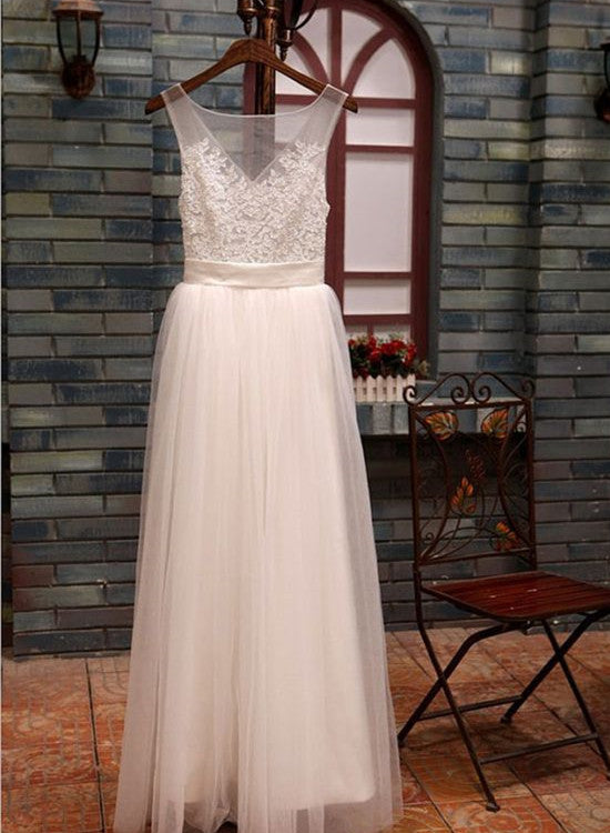 Simple white wedding dresses lace and tulle party dresses cute simple white wedding dresses lace and tulle party dresses cute formal dress long 2018 junglespirit Choice Image