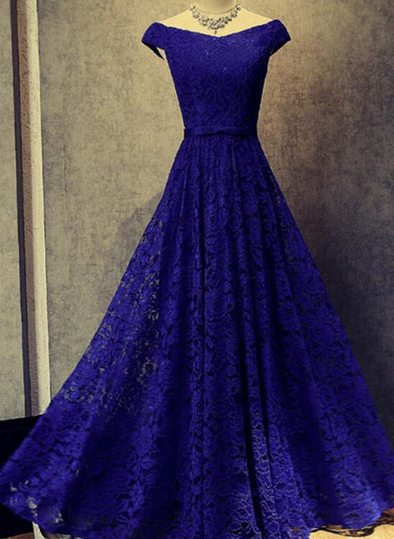 Adorable Teen Prom Dresses, Blue Junior Lace Prom Dresses, Party Gowns