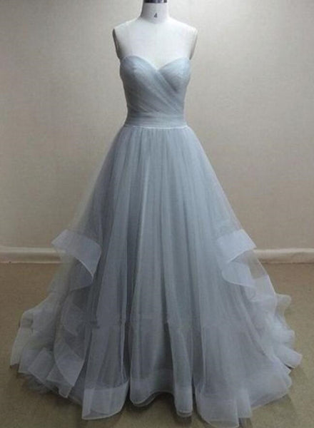 Grey Wedding Dresses, Charming Grey Prom Dresses, Party Gowns, Grey Formal Dresses