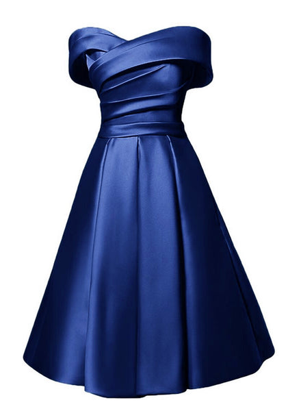 Charming Satin Sweetheart A-line Wedding Party Dress, Cute Prom Dress 2019