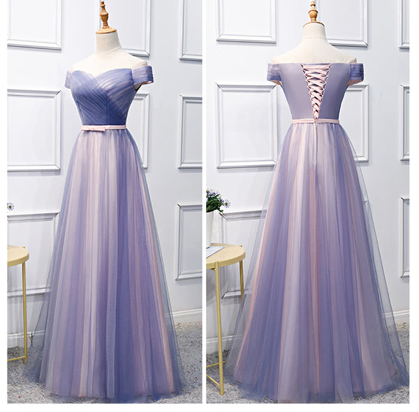 Charming Off Shoulder Sweetheart Floor Length Formal Dress, Cute Long Party Dress 2019