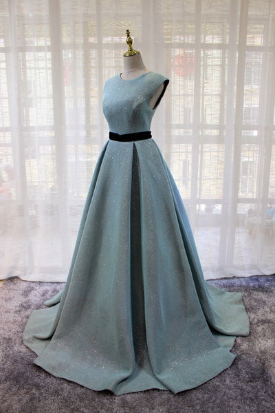 Blue Round Neckline A-line Party Dress 2019, Gorgeous Formal Dress 2019