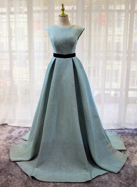 blue long party dress