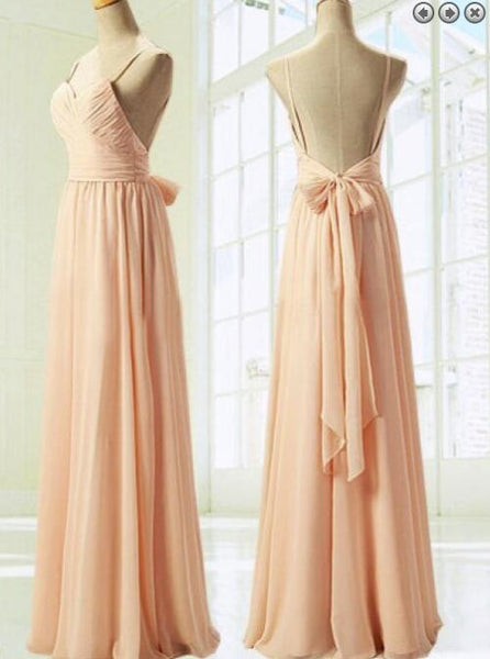 Pink Bridesmaid Dresses,  Simple Pretty Soft Pink Prom Dresses, Lovely Party Dresses
