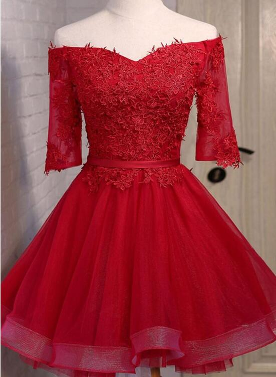 f86050df14ba Red Short Prom Dresses 2018