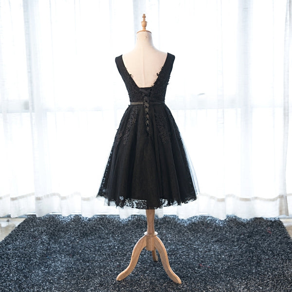 Lovely Black Tulle Homecoming Dress 2019, Beautiful Homecoming Dress