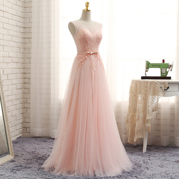 Light Pink Bridesmaid Dresses, Long Formal Gowns, Cute Party Dresses