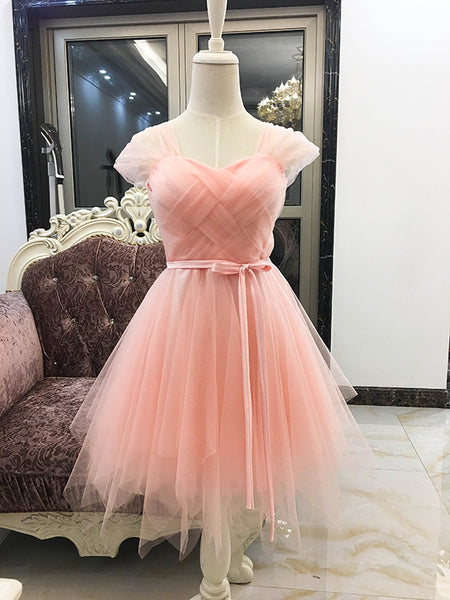 Lovely Tulle Short Party Dresses, Cute Mini Dresses, Tulle Short Women Dresses for Sale