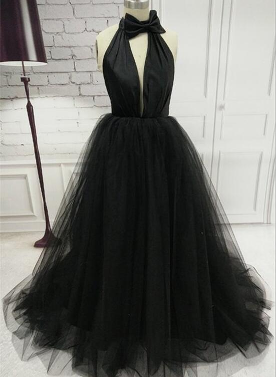 Black New Style Gorgeous Prom Dress Black Formal Gowns Prom Dress