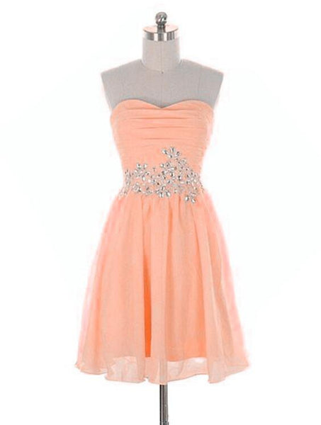 Lovely Short Prom Dress with Beaded, Simple Cute Homecoming Dresses, Short Party Dresses