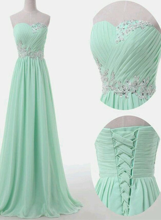 Mint Green Simple Prom Dresses 2018 Formal Dresses Party Gowns