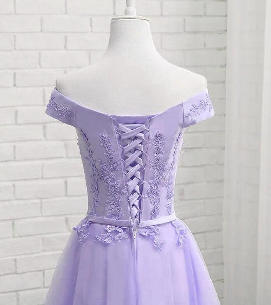 Charming Lavender Sweetheart Knee Length Homecomin Dress, Short Prom Dress