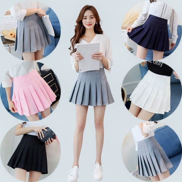 Lovely Pink/Blue/Grey/Black Short Skirt as gift for our customers