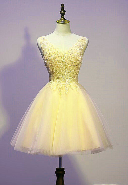 lovely yellow tulle party dress