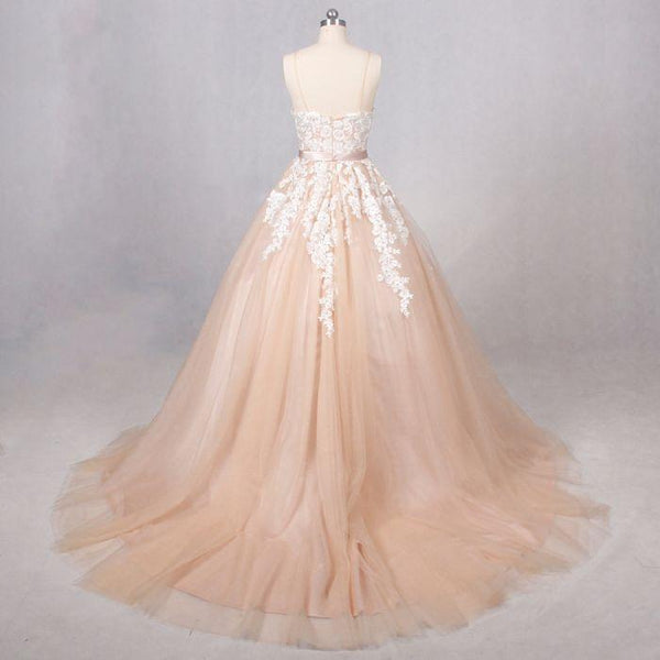 Tulle Gorgeous with Lace Straps Sweetheart Ball Gowns, Woman Formal Gown, Prom Gown