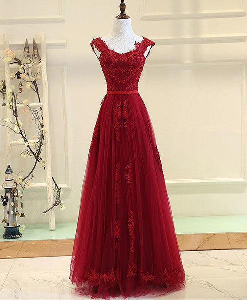 Beautiful Wine Red Prom Dresses 2019, Gorgeous Party Gowns