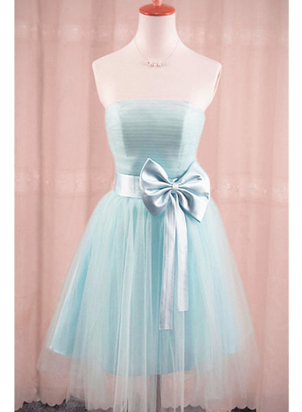 light blue tulle homecoming dress