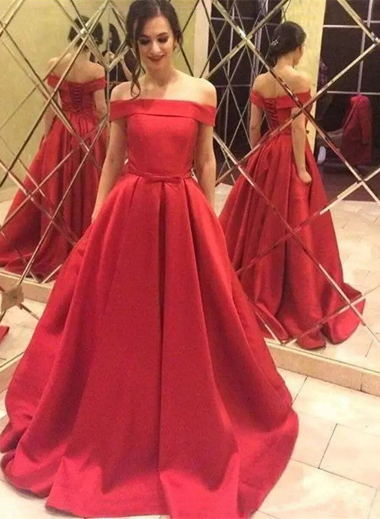 02fa8afd0dcf3 Red Satin Prom Dresses