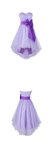 Lavender High Low Tulle Party Dress, Pretty Formal Dress, Lovely Homecoming Dresses 2018