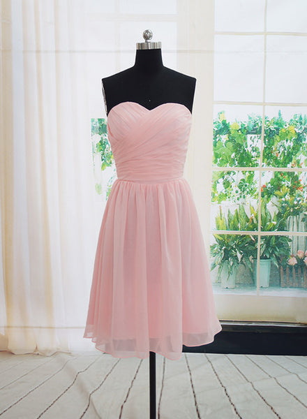 Light Pink Simple New Bridesmaid Dresses, Bridesmaid Dress 2019, Pink Wedding Party Dresses