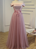 Beautiful Off Shoulder Floor Length Prom Dress 2018, Off Shoulder Party Dresses, Formal Gowns