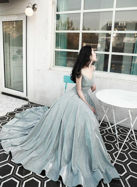 Beautiful Sequins V-neckline Long Formal Dress, New Style Prom Dress, Party Dress