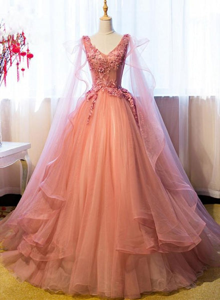 pink party gown