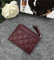 Luxury Leather Card Holder With Zip