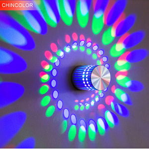 Multicolor Luminous Shadow Spiral Effect Lamp With Remote Control