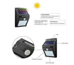 Solar Power Night Light Security
